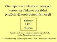 Vliv tepelných vlastností tenkých vrstev na třískové ... - ateam.zcu.cz