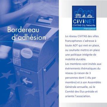 bordereau d'adhésion - civitas