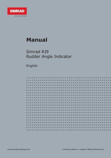 Instruction Manual English - Simrad Professional Series - Simrad ...