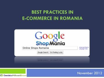 BEST PRACTICES IN E-COMMERCE IN ROMANIA - Wall-Street.ro