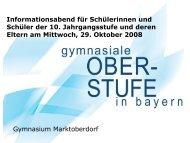 und P- Seminar - Gymnasium Marktoberdorf