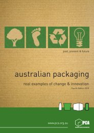 Australian Packaging - real examples of change and innovation