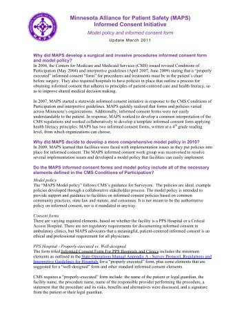 Informed Consent Initiative - Minnesota Alliance for Patient Safety
