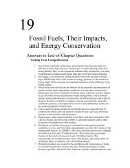Fossil Fuels, Their Impacts, and Energy Conservation