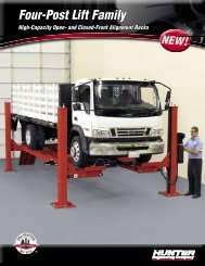 High-Capacity Open- and Closed-Front Alignment Racks - Hunter ...