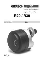 Giersch apkures sistēma R20 un R30 - Sanistal