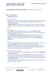 Steuerung B - Agentur für Online-Kommunikation - Businessportraits ...