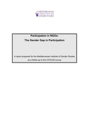 Participation in NGOs - Mediterranean Institute of Gender Studies
