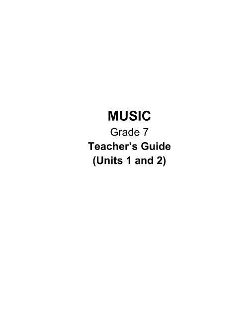 Grade 7 Teacher S Guide Units 1 And 2 DepEd Naga City