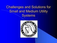Challenges Facing Small and Medium Water Systems