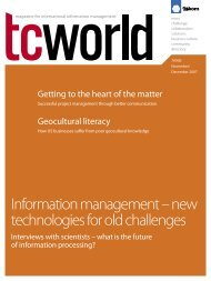 Information management –  new technologies for old ... - Tekom