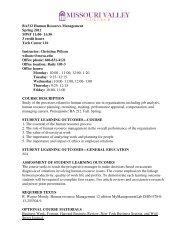 BA312 Human Resource Management Spring 2012 MWF 11:00- 11 ...
