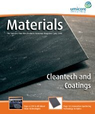 Materials - Umicore Thin Film Products