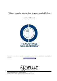 Tobacco cessation interventions for young people - The Cochrane ...