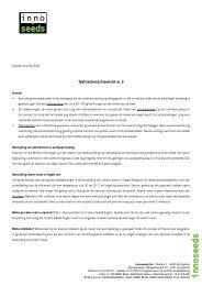 Teelttechnisch bericht nr. 3 - Innoseeds
