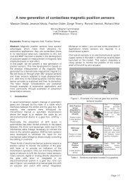 Sensact 2007 - Moving Magnet Technologies
