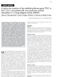 A splice site mutation in the methyltransferase gene FTSJ1 in Xp11 ...