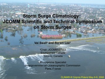 Storm Surge Climatology: JCOMM Scientific and Technical ... - icoads