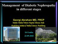 Management of Diabetic Nephropathy in different stages