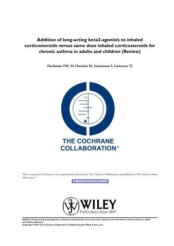 Addition of long-acting beta2-agonists to inhaled corticosteroids ...
