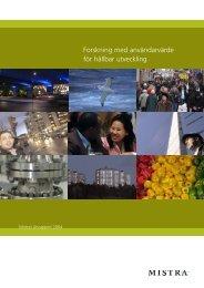 Årsrapport 2004 - Mistra