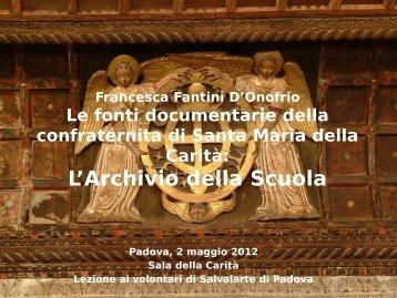 L'Archivio della Scuola - Legambiente Padova