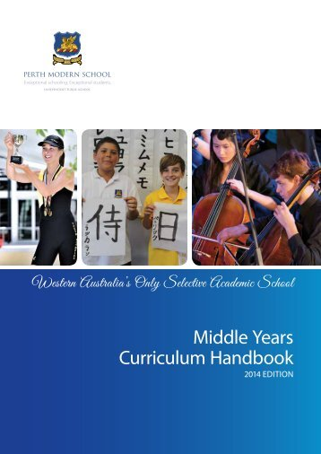 Middle Years Curriculum Handbook - Perth Modern School