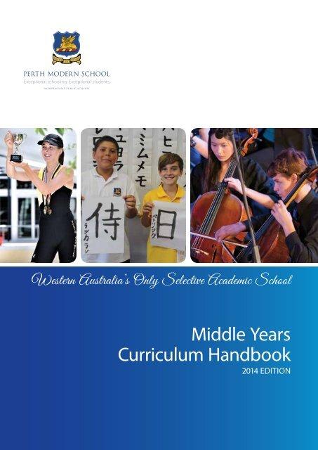 Middle Years Curriculum Handbook - Perth Modern School