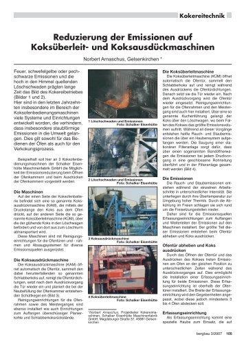 Reduzierung der Emissionen auf Koksüberleit- und ...