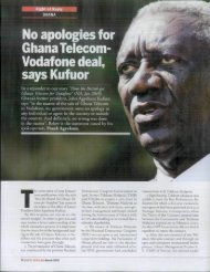 No apologies for Ghana Telecom- Vodafone deal, says Kufuor