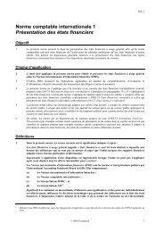 Présentation des états financiers - Normes d'information financière ...