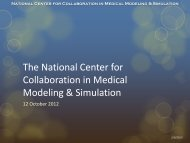 National Center for Collaboration in Medical Modeling & Simulation