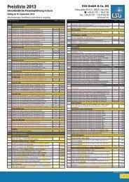 Preisliste 2013 - ESU