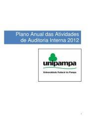 Plano Anual das Atividades de Auditoria Interna 2012 - Reitoria ...