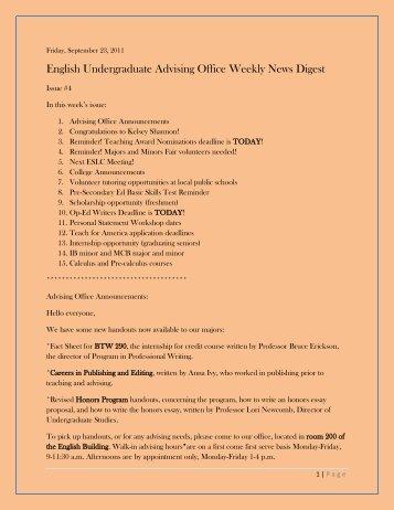 September 23, 2011 Volume 1 Issue 4 - English