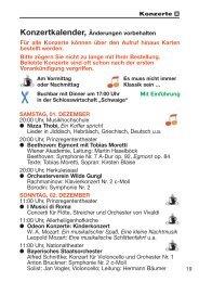 Konzertkalender - Theatergemeinde München