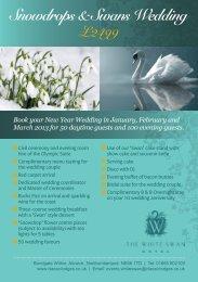 Snowdrops & Swans Wedding Breakfast - Classic Lodges