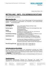 Info-Lohnfertigung-Pulverbeschichtung - Kollinger Metallbau