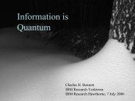 Information is Quantum - Researcher - IBM
