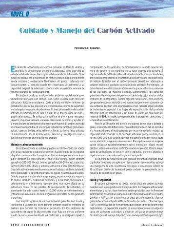 NIVEL II Cuidado y Manejo del Carbón Activado - Agua Latinoamérica