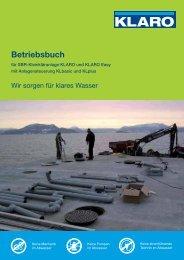 Betriebsbuch - KLARO GmbH