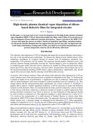 High-density plasma chemical vapor deposition of silicon ... - LSI