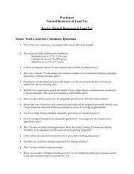 Worksheet Natural Resources and Land Use - City of Waterville