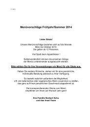 Menüvorschläge (PDF) - Hannover Locations