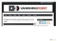 Toundra viene a Zaragoza en abril | Vanishing Point - SALA LÓPEZ