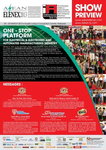 Download the AE 2013 Show Preview here now! - ASEAN Elenex ...