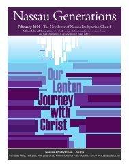 February 2010 The Newsletter of Nassau Presbyterian Church