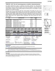21.164/1 Sauter Components TSHK 621...661: Fan-coil room ...