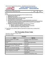 PLC Everyday Dress Code - Cobb County School District