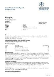 Kursplan Arkeologi I(pdf) - Institutionen för arkeologi och antikens ...